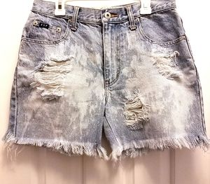 Express Distressed Jeans Shorts
